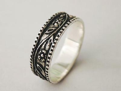 Sovats 925 Sterling Silver Womens Jewelry Antique Nature Flower Ring Size 5-12