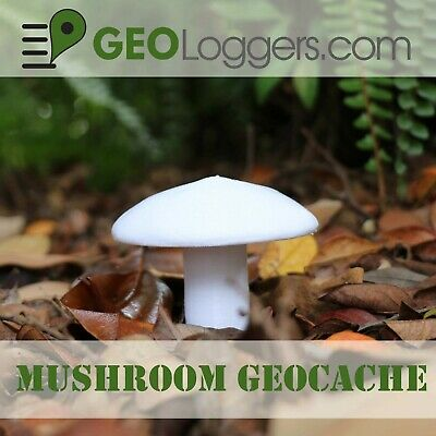 *NEW* Mushroom Geocache Cache Container With Bison Tube +3 Free Cache Logs!