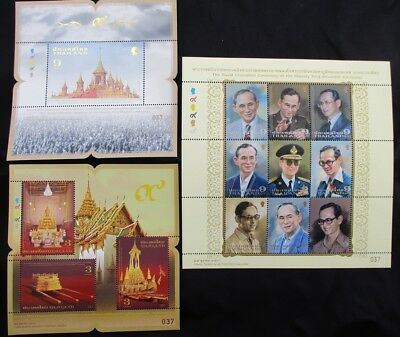 2017 stamp Thai Siam king RAMA 9 royal cremation ceremony, last 3 special sheets