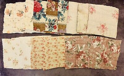Lot Of 17 Antique French Quilt Squares