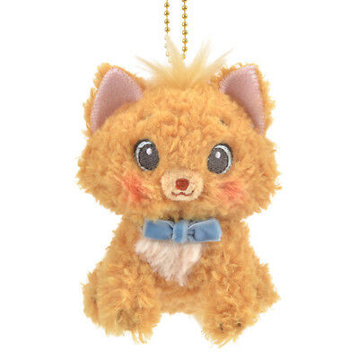 Disney Store JAPAN Key Chain Plush Toy With Toulouse The Aristocats 2018 CAT DAY