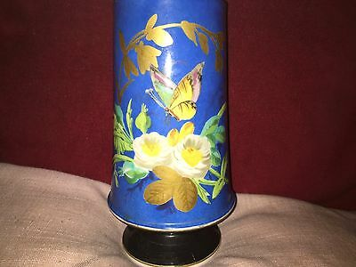 Aesthetic Movement a Fine Porcelain Vase Painted With Flowers and Butterfly