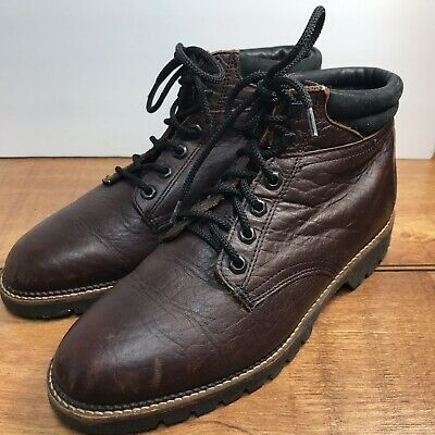 f572e5e7e56 H.S. TRASK VINTAGE Chukka Ankle Boots Brown Bison Saddle Leather Men ...