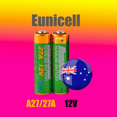 2 x A27 Eunicell 0%Hg 12V 27A Battery Batteries Garage Car Remote Alarm