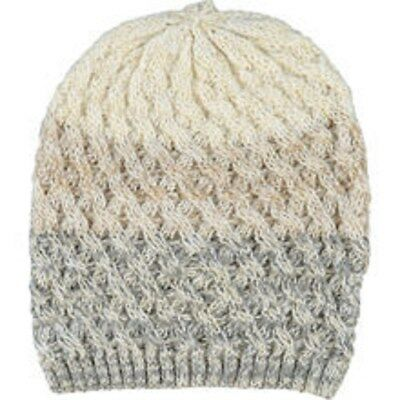 ed5f31ff3fc BNWT James Lakeland Ladies Designer Beanie Cable Knit Hat Cream Silver RRP  £45