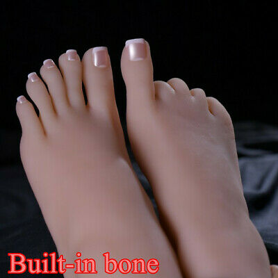 One Left Or Right Lifelike Silicone Feet With Bone Female Foot Model Display