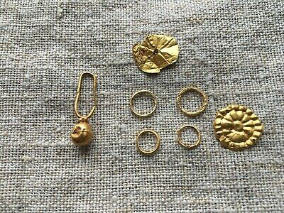 Ancient gold, golden treasure.Golden find   Metal detector finds 100% original