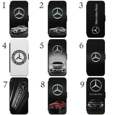 Mercedes Benz Amg Car Logo Wallet Flip Phone Case Cover For Iphone Samsung
