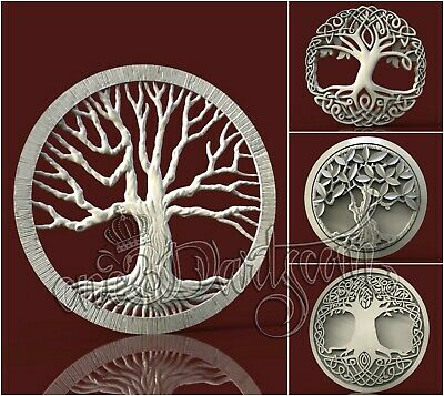 4 3D STL Models Family Tree Panel for CNC Router Carving Machine Artcam aspire