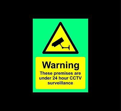 CCTV in operation Safety sign - Photoluminescent