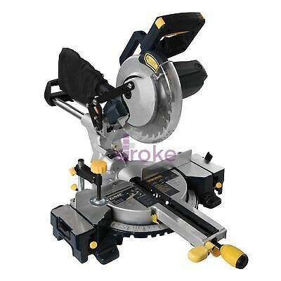 1800W Double Bar Sliding Mitre Saw Laser Cut Line Indicator 24T TCT Blade 210mm