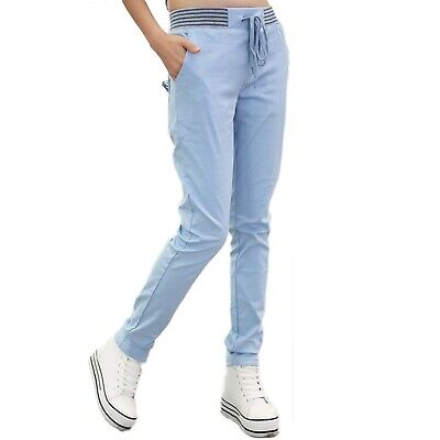 Ladies summer sport trousers Skinny Coloured Casual cotton Pants Size 6 8 10