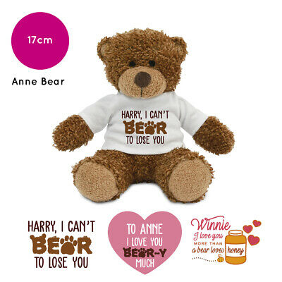 Personalised Anne Name Teddy Bear Pun Humour Valentines Day Gifts For Him / Her