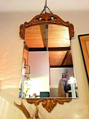 Original Art Deco Mirror with Gold Gilded Detail 1930's - 1940's - Rare item