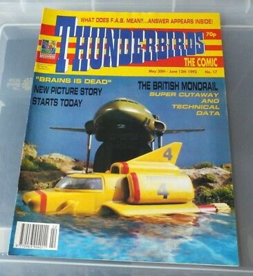 THUNDERBIRDS The Comic - Issue No 17 1992 -N. MINT CONDITION GERRY ANDERSON