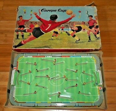 Technofix 305 Europa Cup Tinplate Table Football Toy Rare Boxed West German D183