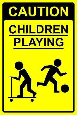 Caution Children Playing - safety Sign