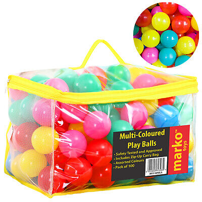 Plastic Balls For Childrens Kids Ball Pits Pens Pool Multicoloured Toy Play Soft
