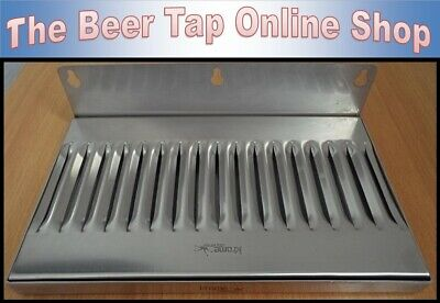 """10"""" x 6"""" Stainless Steel Wall Mount Drip Tray for Kegerator - Keezer - Beer Tap"""