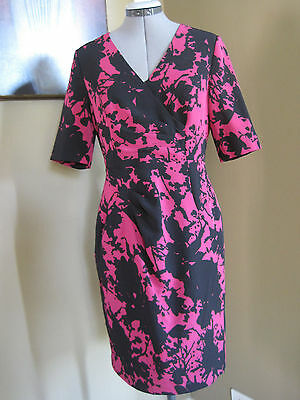 f0a70d3c158 NEW ADRIANNA PAPELL Sangria Pink Black Floral Print Faux Leather ...