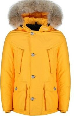 size 40 ac8c5 77eb2 WOOLRICH ANORAK PARKA UOMO colore Giallo WOCPS2739CN.DKN taglia L