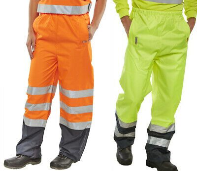B-Seen Belfry Trousers High Visibility Waterproof Two Tone Safety Hi Vis Elastic