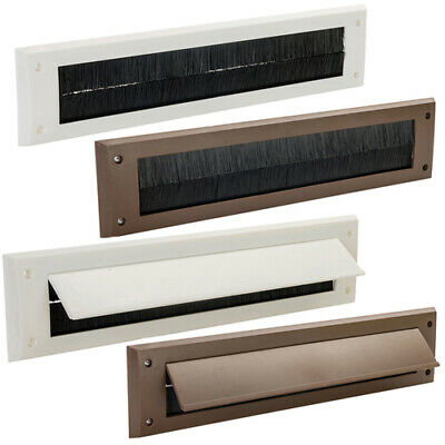 Letterbox Draught Seal White Or Brown Letter Box Excluder Flap Excluders