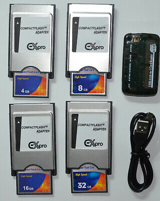 4 GB 8 GB 16 GB 32 GB PCMCIA Adapter + Kartenleser CF Comand APS Mercedes Benz