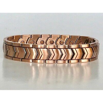 8.5  In Copper Magnetic Bracelet Unique Design With Magnet Every Link New 6464