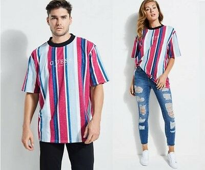 809c85f7eb Guess x Urban Outfitters - Striped Tee Shirt Spell Out Small S - NEW With  Tags