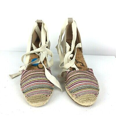 797d1a9ef9f SAM EDELMAN WOMENS Patsy Wedge Espadrilles Sandals Womens NEW Multi ...