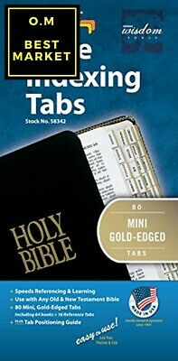 Tabbies Mini Gold-Edged Bible Indexing Tabs, Old New Testament, 80 Tabs Includ