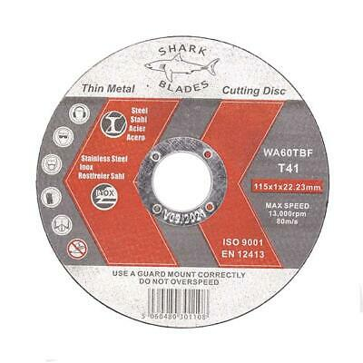 """THIN 1mm METAL CUTTING BLADE DISCS 1/2"""" STEEL & STAINLESS 115mm 4.5"""""""