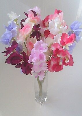 Artificial Silk Flowers Sweet Peas X 12 Stems Luxury Collection Looks So Real
