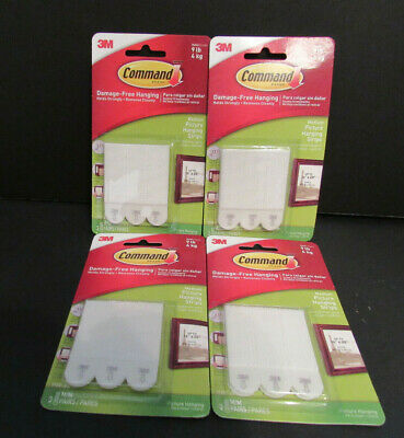 3M Command Damage Free 9 Lb. Medium Picture Hanging Strips ~ 12 Pair