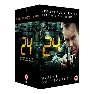 24 The Complete Series Seasons 1-8 + Redemption 49 Discs DVD Gift Set NEW