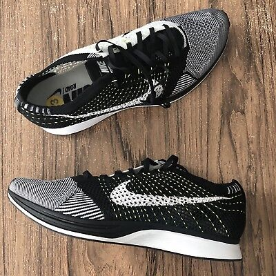 141cea47a474a A1073G Nike Flyknit Racer Volt 526628-011 Mens Size 13 NEW Running Shoes