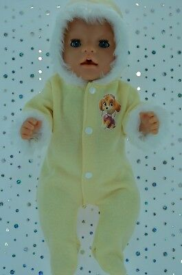 "Play n Wear Doll Clothes To Fit 17"" Baby Born LEMON SNOWSUIT"