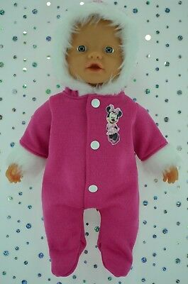 "Play n Wear Doll Clothes For 13"" My Little Baby Born/Mommy HOT PINK SNOWSUIT"
