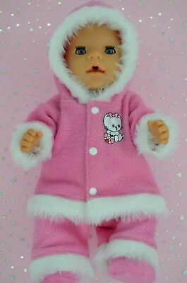 """Play n Wear Doll Clothes To Fit 17"""" Baby Born CANDY PINK JACKET~PANTS~BOOTIES"""