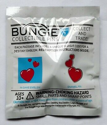 Destiny 2 - Bungie - Heart Of The Foundation Pin and Planet of Peace Emblem