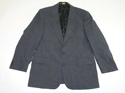 Brooks Brothers Men's Houndstooth Suit Jacket Size 40 Short Charcoal Gray Wool S
