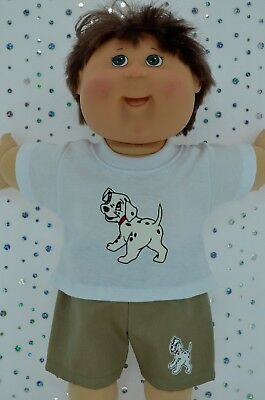 "Play n Wear Doll Clothes To Fit 16"" Cabbage Patch TAUPE SHORTS~T-SHIRT"
