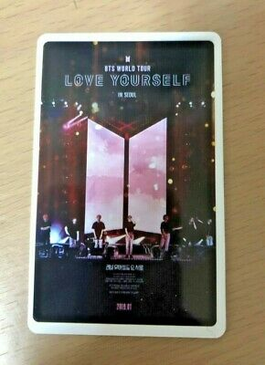 BTS 'Love Yourself in Seoul' Movie CGV Limited Photo Ticket