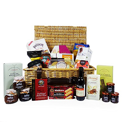 A Taste of Luxury Traditional Wicker Gift Hamper with 25 Gourmet Foods - Gift