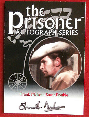 THE PRISONER Volume 1 - FRANK MAHER Autograph Card - Cards Inc 2002 - PA9