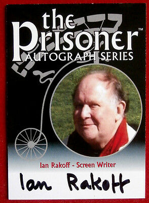 THE PRISONER - IAN RAKOFF Autograph Card PA6 - Factory Entertainment 2010