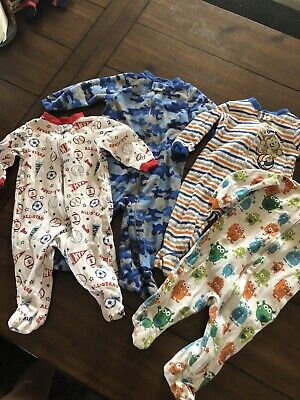 8c8b6c514116 6-9 MONTHS BABY Boys Pajamas Zip Footed Sleepers Lot 4 pc -  9.99 ...