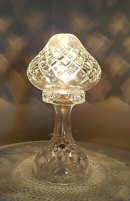Vintage Art Deco Crystal Cut Glass Boudoir Table Lamp
