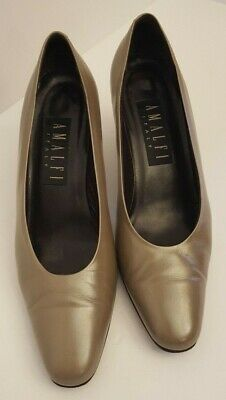 ca7026f423 AMALFI ITALY PUMP Shoes Size 8 B taupe 3 Inch heel - $10.00 | PicClick